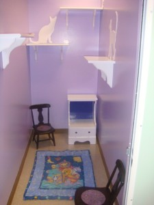 Purple Room with Quilt
